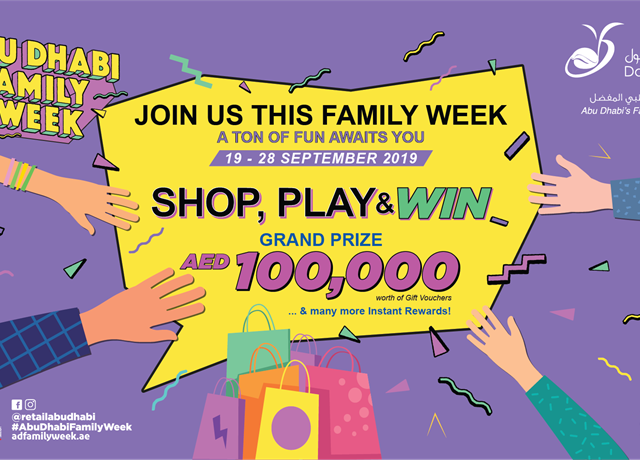 Abu Dhabi Family Week - SHOP, PLAY & WIN